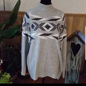 Grey/Blk/White oversized sweater